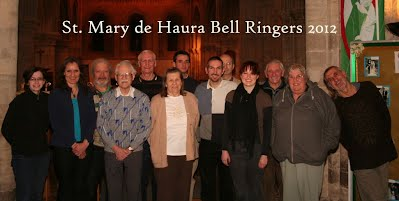 Bell Ringers at St Mary's in 2012